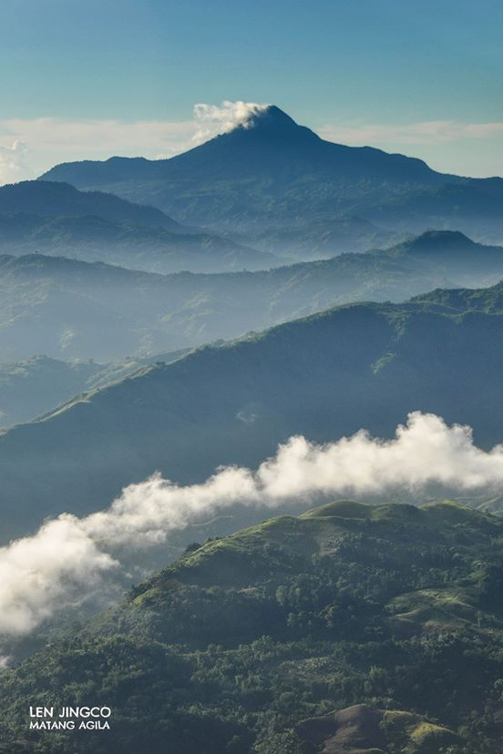 Mt. Matutum with layered mountain foreground